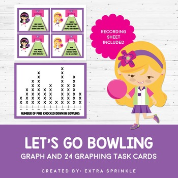 Bowling Graph Task Cards