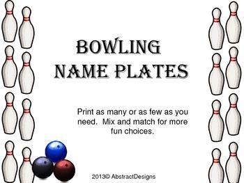 Bowling Name Plates