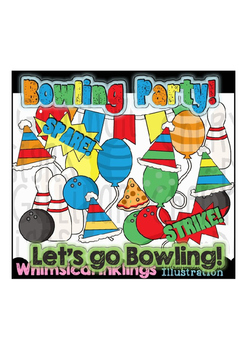 Bowling Party Clipart Collection