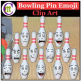 Bowling Pin Emoji Clipart   Sports Game Emotions Clip Art