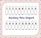 Bowling Pins Clipart /Bowling Clipart / Leisure Clipart / Sports Clipart