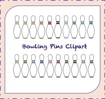 Bowling Pins Clipart /Bowling Clipart / Leisure Clipart / Sports Clipart