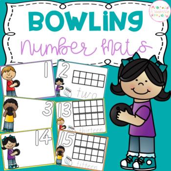 Bowling Playdough Number Mats
