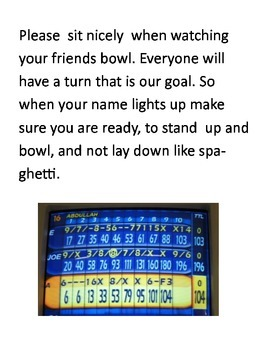Bowling Rules Social Story