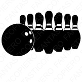 Bowling SVG files for Silhouette Cameo and Cricut.