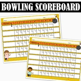 Bowling Scoreboard   FREE   Use with Least Common Multiples or Ratios and Rates