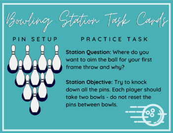 Bowling Station Task Cards