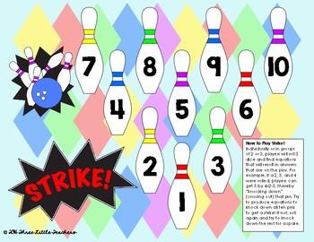 Bowling Strike - Math Fact Fluency Game