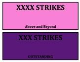 Bowling Theme Behavior Chart