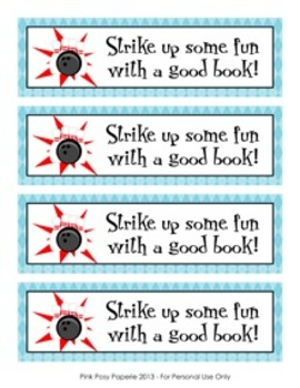 Bowling Theme Bookmarks