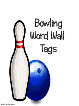 Bowling Word Wall Tags