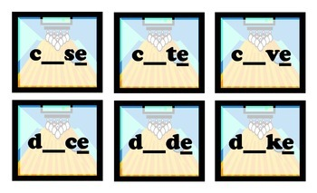 Bowling for CVCe Words (Long Vowels) Game for Workstations and Small Groups