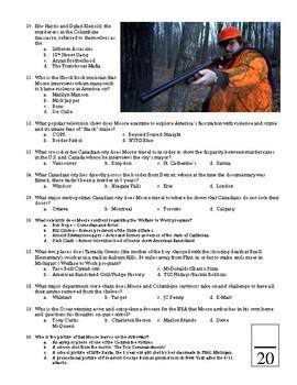 Bowling  for Columbine Movie Quiz