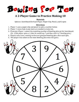 Bowling for Ten - A 2-Player Game to Practice Making 10