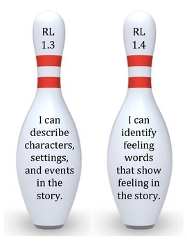 Bowling pins with I can statements