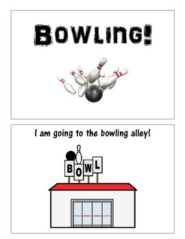 Bowling social story book
