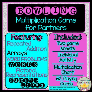 Bowling-themed Multiplication Set by Drummer Chick Arithmetic | TpT