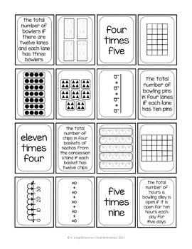 Bowling-themed Multiplication Set
