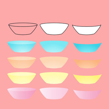 Bowls - Put Anything in a Bowl!  - Clip Art for Commercial Use