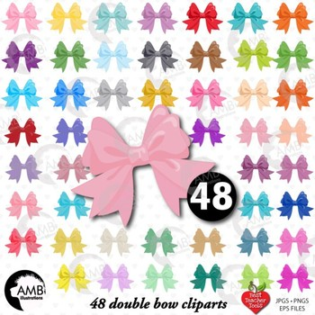 Bows Clipart, Pretty Ribbons and Bows Clipart, {Best Teacher Tools} AMB-1294