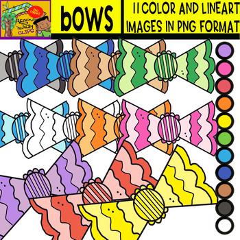 Bows - Cliparts Set - 11 Items