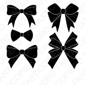 Bows SVG files for Silhouette Cameo and Cricut.