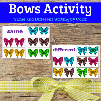 Bows Sorting Activity for Autism