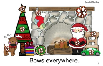 Bows on the Fireplace:  An Interactive Rhyming Book