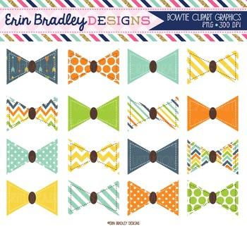 Bowtie Clipart Graphics Blue Orange Yellow Green Little Ma