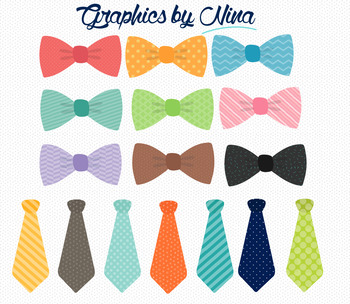 Bowties and Ties Clipart