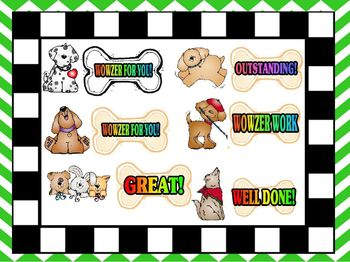 Bowzer Wowzer Work Stickers Sets 1 and 2 COMBINED