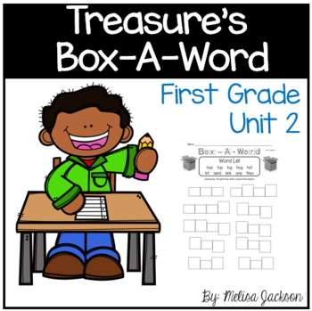 """Box-A-Word """"Treasures"""" Spelling Practice Unit 2 First Grade"""
