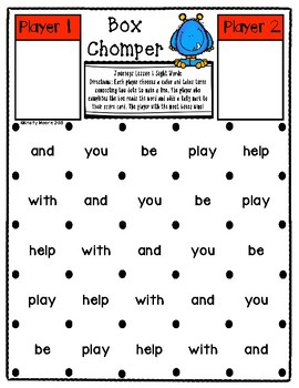 Box Chomper- A Word Reading Game- Journeys, First Grade, Unit 1