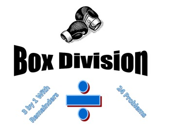 Box Division 3 x 1 - 24 Problems - Remainders