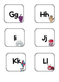 Box Labels A-Z for Manipulatives