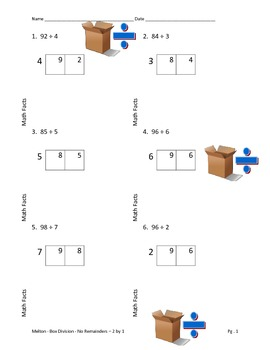 Box Method Division 2 by 1