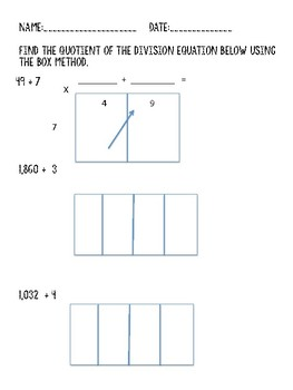 Box Method Division