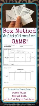 Box Method Multiplication Game
