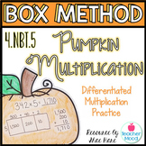 Box Method Pumpkin Multiplication - Differentiated Practice pages - 4NBT5