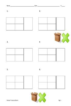 Box Multiplication - Partial Products - Multipack - 2 digit by 2 digit