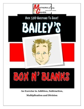 Box N Blanks - Problem Solving Worksheets, Add, Subtract, Multiply, Divide