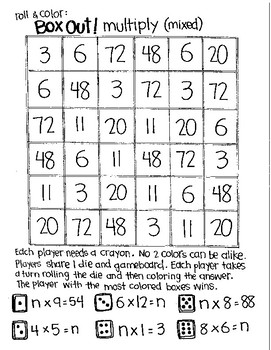 Box Out!  Mixed Multiplication