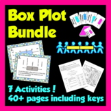 Box Plot Bundle - 6 activities! 48 pages and keys