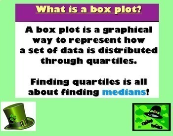 Box Plots Box and Whisker Plots Data Smartboard Lesson March St. Pat's Theme