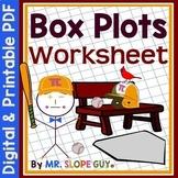 Box and Whisker Plots (Box Plots) Worksheet