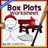 Box and Whisker Plots (Box Plots) Worksheet
