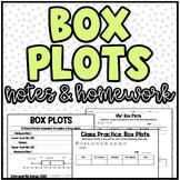 Box Plots - Notes and Homework