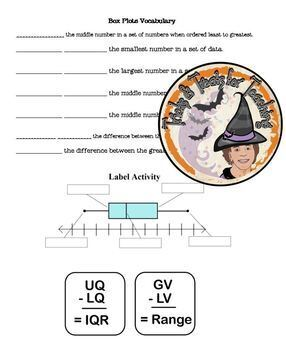 Box Plots Notes and Practice Box and Whisker Plots Vocabulary Label Steps Create