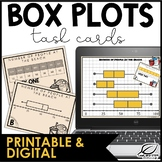 Box Plots Task Cards | Distance Learning | Google Slides