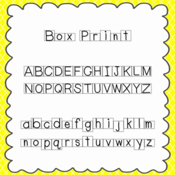 Box Print Font {personal and commercial use; no license needed}